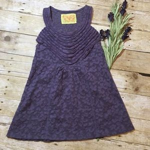 Free People Purple Lacy Ribbed Front Tank Top